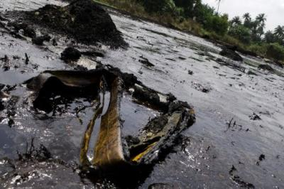Inquinamento su delta del Niger